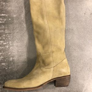Camel pro gress suede tall boots